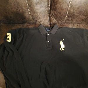 Polo ralph Lauren black and yellow big pony xxxl